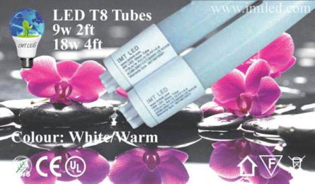 IMT LED T8 Aluminum, Glass, Plastic Tubes